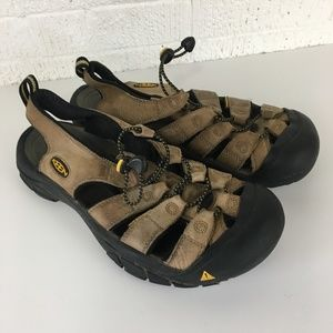 Keen mens outdoor sandals brown leather